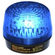 Enforcer LED Strobe Light with Built-In Programmable Siren, Blue