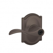 Camelot Collection Oil-Rubbed Bronze Accent Keyed Entry Lever
