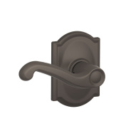 Schlage F10 FLA 613 CAM Camelot Collection Flair Passage Lever, Oil Rubbed Bronze