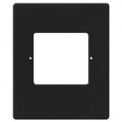 RETRO Intercom Room & Patio Station Vertical Plastic Cover Plate - Black - RETRO-5RVB