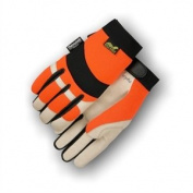 Bald Eagle High Visibility Pigskin Leather Gloves with Thinsulate (Mechanics Style), Medium
