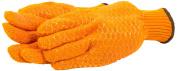 Forney 53285 String Knit Glove Honeycomb PVC Grip Men's Gloves Large