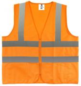 TR Industrial Orange Safety Vest, XXXL, 2 Pockets Knited