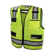 Dewalt DSV621-L Class 2 Polyester Solid Mesh Standard Surveyor Vest, Large