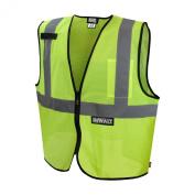 Dewalt DSV220-M Class 2 Durable Polyester Mesh Economy Green Vest, Medium