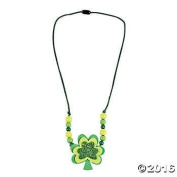 Foam Clover Necklace Craft Kits - Makes 12