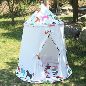 Pericross Cotton Canvas Teepee Tent Kids Play Tent Outdoor Indoor Gamehouse