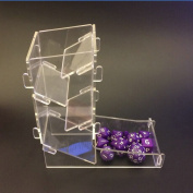 LZWIN® Creative Protable Transparent Mini Prism Board Game Dice Tower Toy Kit