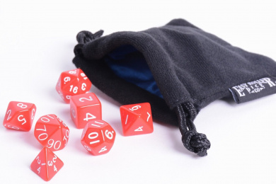 Red Opaque Polyhedral Dice Set | 7 Piece | PRISTINE Edition | FREE Dice Bag | Hand Checked Quality.