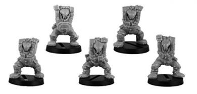 Kromlech Conversion Bitz: Armoured Orc Bodies (5)
