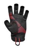 Mustang Survival Traction Open Finger Watersports Glove Medium, black/Red