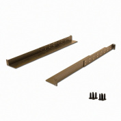 NavePoint 1U Rack Mount 4-Post Shelf Rail Full Depth - 90cm deep 3-pack