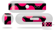 Kearas Polka Dots Pink On Black Decal Style Skin - fits Beats Pill Plus