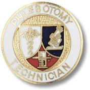 EMI Phlebotomy Technican Emblem Pin - Round