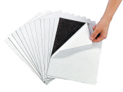 Awesome Adhesive Magnetic Sheets (12 Pack) Peel & Stick + Flexible 22cm X 28cm .