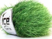 Grass Green Eyelash Yarn 50 Gramme Ice 22787