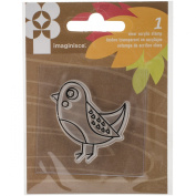 American Crafts Give Thanks Bird Acrylic Stamp, 5.1cm by 5.1cm , Clear