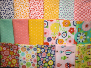 17 Fat Quarters Lazy Day by Lori Whitlock Riley Blake Cotton Quilt Fabric Owls Balloons Flowers