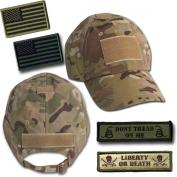 Gadsden Tactical Hat & Patch Bundle (2 Patches + Hat) - Multicam
