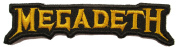 Megadeth Gold Name Tag Music Band Embroidered Iron on Applique Patch