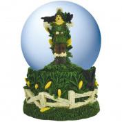 100mm Wizard of Oz Scarecrow Standing in Corn Field in Water Globe