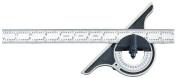 Starrett 12-18-4R Non-Reversible Bevel Protractor, Black Wrinkle Finish, 4R Graduations, 46cm Size