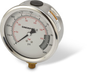 Enerpac - G4088L - Pressure Gauge, Liquid Filled Gauge Type, 0 to 10, 000 psi Range, 4 Dial Size