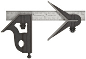 Starrett 11HC-6-16R Cast Iron Square And Centre Heads With Regular Blade Combination Square, Black Wrinkle Finish, 16R G