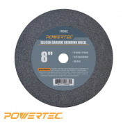 15502 Silicon Carbide Grinding Wheel, 20cm by 2.5cm , 1.6cm Arbour, 36 Grit