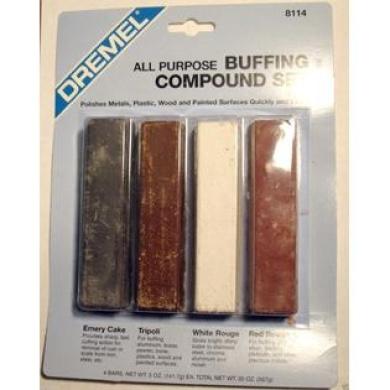 Metal & Plastic Polishing and Buffing Compound Set