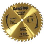 SawStop BTS-R-40ATB 40-Tooth Titanium Series Premium Woodworking Blade, 25cm with 1.6cm Arbour