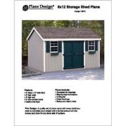 2.4m x 3.7m Gable Storage Shed Project Plans -Design #10812