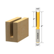 Straight Router Bit - 1/2 Dia. X 2 Length - 1/2 Shank - Yonico 14150