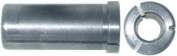 Magnate SCK14 Steel Router Collect Reducers - 0.6cm Inside Diameter; 1.3cm Outside Diameter; 2.5cm - 0.6cm Overall Length