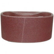 Magnate R3X18S22 7.6cm x 46cm Closed Coat Sanding Belt,Aluminium Oxide - 220 Grit; X Weight; 10 Belts/Pkg