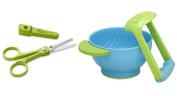 Zoli Baby Snip Ceramic 15cm Scissor - Green with Mash and Serve Bowl