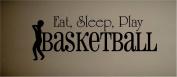 VINYL WALL DECAL STICKER EAT SLEEP PLAY BASKETBALL KIDS ROOM HOME DECOR SPORTS HOBBIES OUTDOORS