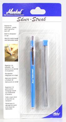Markal 27016 Silver-Streak Round Metal Marker with 6 Refills