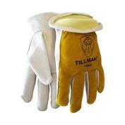 Tillman 1454 Grain/Split Cowhide Kevlar Sock Lined Drivers Gloves, Medium