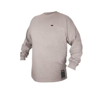 Revco FTL6-GRY Grey Flame Resistant Cotton Long-sleeve T-Shirt, Medium