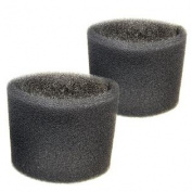 2 Foam Filter Sleeves for Shop-Vac QAL80 QAL80A QAM70 QAMF60 QAS60 QL20ATS QLH20ATS QL20ATSP QL20TS QL30B QL30C Wet Dry Vacuums