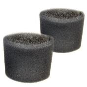 2 Foam Filter Sleeves for Shop-Vac QPL30, QPL40, QPL45, QPL45A, QPL50A, QPL60, QPV10.5, QPV10.5A, QPV10.5B Wet Dry Vacuums