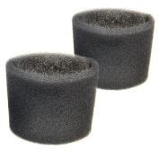 2 Foam Filter Sleeves for Shop-Vac 86M200, 86M300, 87M300, 87M350, 87MT550A, 87MT650C, 84EM200, 86EM300, 86EM350 Wet Dry Vacuums