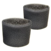2 Foam Filter Sleeves for Shop-Vac Quiet 586-76-00, 586-75-00, 586-74-00, 586-73-00, 596-07-00, 596-08-00 Wet Dry Vacuums