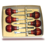 Linoleum or Wood Carving Set With Palm Style Handles- 6 Pc. Set- Made in USA
