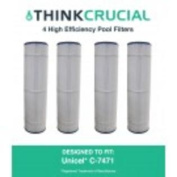 4 Pool Filters Replace Unicel C-7471 Pleatco PCC105 & Filbur FC-1977 Designed & Engineered by Think Crucial