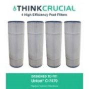 4 Pool Filters Replace Unicel C-7470 & Pleatco PCC80 Designed & Engineered by Think Crucial
