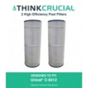 2 Pool Filters Replace Unicel C-8412, Fits 11sqm Hayward CX1200RE, Designed & Engineered by Think Crucial