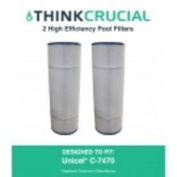2 Pool Filters Replace Unicel C-7470 & Pleatco PCC80 Designed & Engineered by Think Crucial