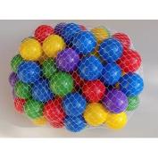 My Balls Pack of 100 pcs 6.4cm Crush Proof Plastic Ball Pit Balls - 5 Bright Colours Phthalate Free PBA Free